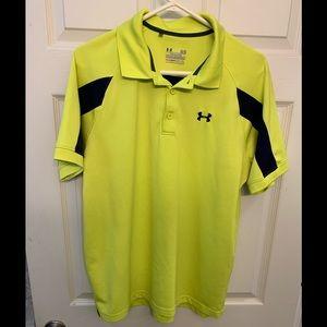 Yellow underarmour golf polo